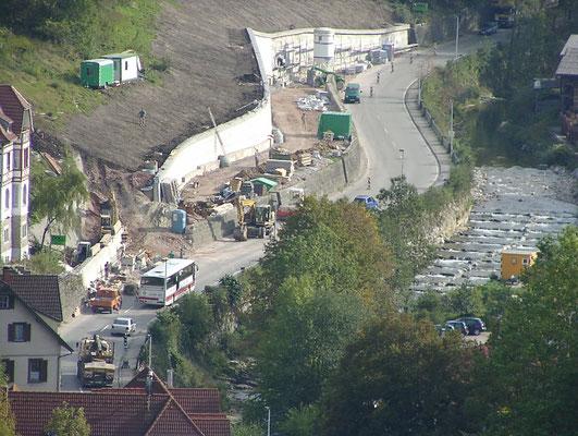 Ansicht vom Schloss Hornberg_B 33 Ortsumfahrung Hornberg, Tunnel Hornberg
