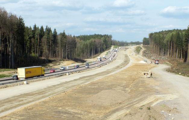 Bundesautobahn A 8 Karlsruhe – München StA AS Mühlhausen – AS Hohenstadt