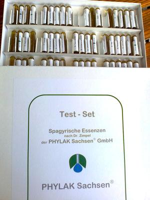 Test-Set spagyrischer Essenzen von Phylak.de  / Privatfoto: Gisela