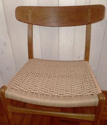 cannage plein en corde danoise chaise Hans Wegner
