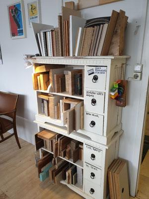 Holzmuster Büro