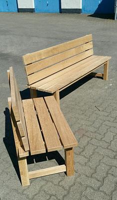 Sitzbänke aus massiver Eiche