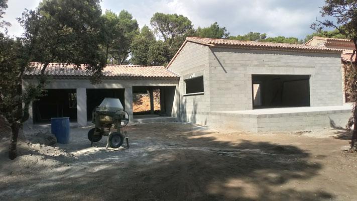 Extension de maison, garage et terrasse en sismicité 4 Travaux terminés en 9 semaines