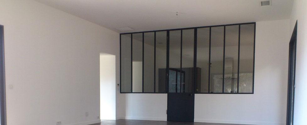 Doublages isolant, cloison atelier artisanale, cloison en carreaux de plâtre 100mm, carrelage 600x600 scellé