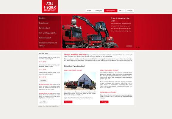 www.axelfischer-transporte.de | Konzeption und Screendesign by dsirearts | Technische Umsetzung by kemaweb