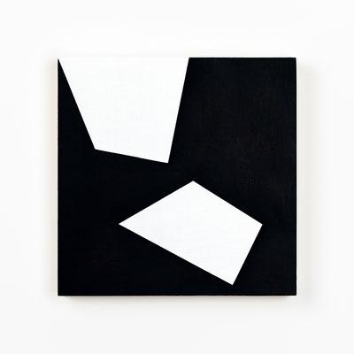 Colonnade #14,  Olieverf op berken multiplex 20x20x3cm (2020)