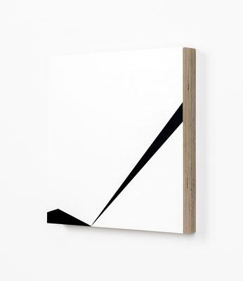 Colonnade #24,  Olieverf op berken multiplex 26x26x3 cm (2020)