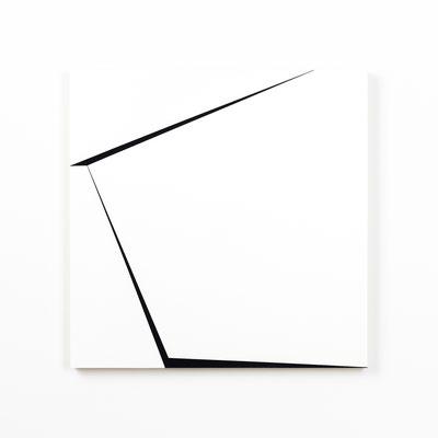 Colonnade #27,  Olieverf op berken multiplex 44x44x3 cm (2020)