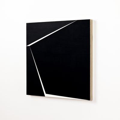 Colonnade #28,  Olieverf op berken multiplex 44x44x3 cm (2020)