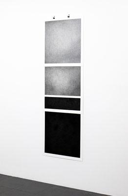 Reunited 01, grafiet en houtskool op papier 150x50cm (2019)