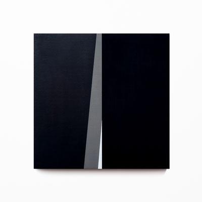 Colonnade #21,  Olieverf op berken multiplex 26x26x3 cm (2020)