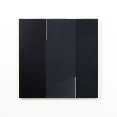 Colonnade #03,  Olieverf op berken multiplex 44x44x3 cm (2020)