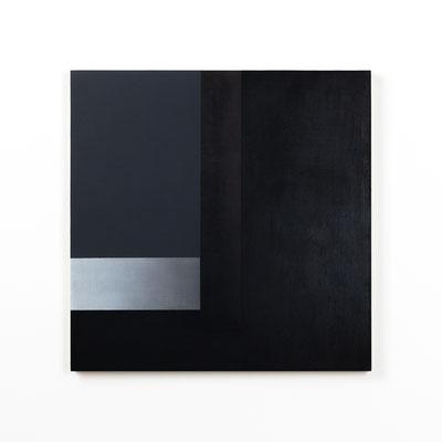 Colonnade #04,  Olieverf op berken multiplex 44x44x3 cm (2020)