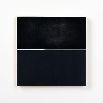 Colonnade #22,  Olieverf op berken multiplex 26x26x3 cm (2020)
