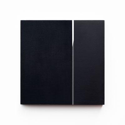 Colonnade #19,  Olieverf op berken multiplex 26x26x3 cm (2020)