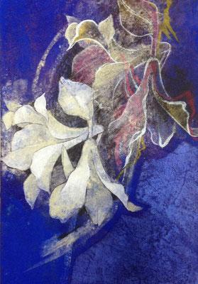 咲く花 SM 岩絵の具