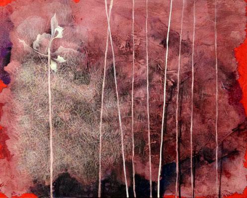 Seeds 秋 F30 岩絵の具 アルキド 2012