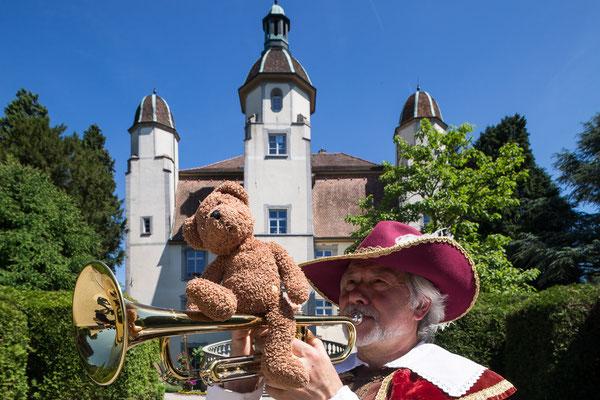 Hier blase ich dem berühmten Trompeter von Säckingen ganz gehörig den Marsch!