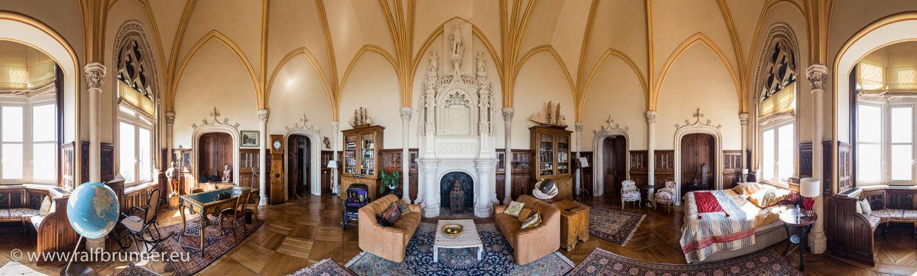 Wohn- und Schlafbereich der großen Suite