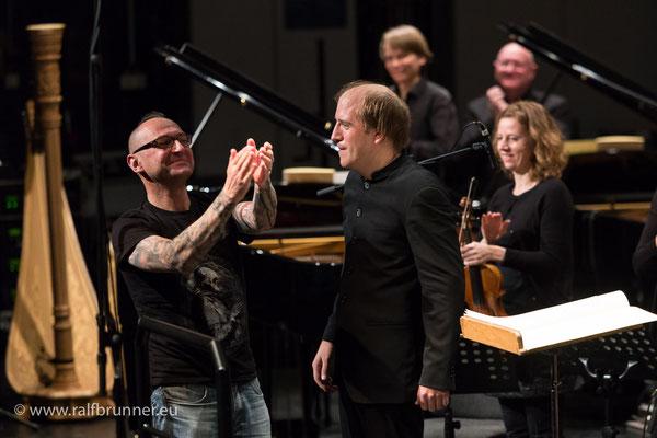 Donaueschinger Musiktage 2016: Bernhard Gander freut sich mit Titus Engel