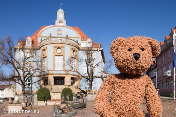 Mein Herrchen und Meister Ralf kommt von dort her: Donaueschingen, Ursprung der schönen blauen Donau am Rande des Schwarzwalds. Darum haben die auch ein schönes, blaues Rathaus.