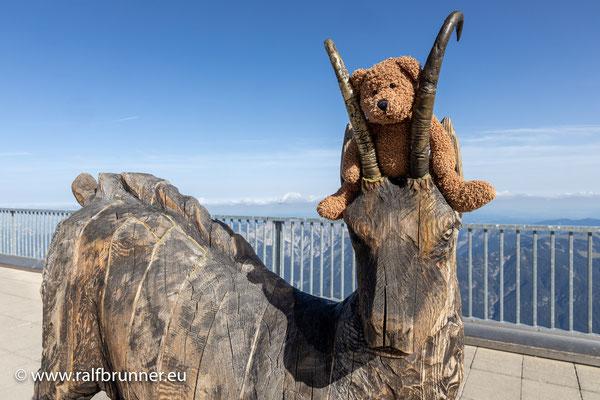 Vom Gipfel der Zugspitze möchte ich ganz herzlich Peter & Charlotte mit ihren beiden Bären Kasper und Weigel grüßen!