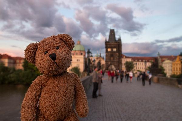 Das war kitschig wildromantisch auf der Prager Karlsbrücke.