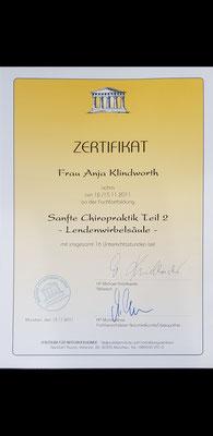 Fortbildung sanfte Chiropraktik Teil 2