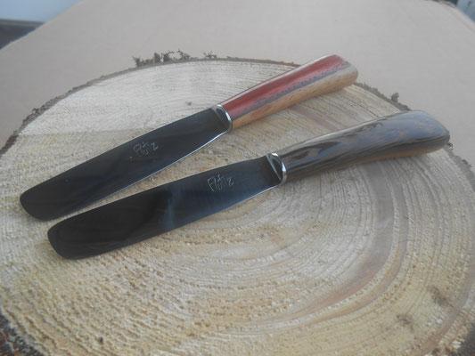 montage sur soie, dans diverses essences de bois