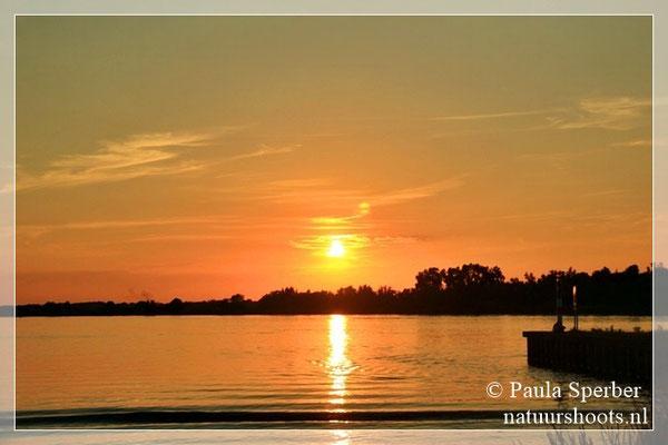zonsondergang Amer