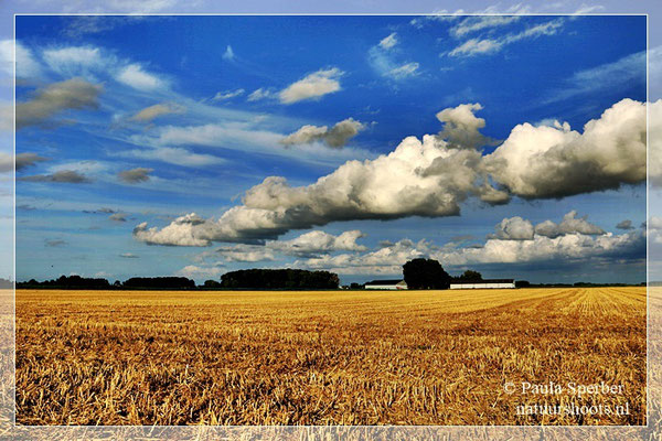 wolkenlucht boven de akkers