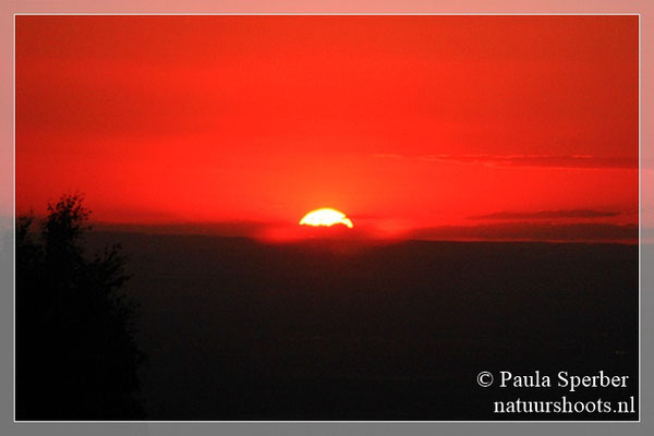zonsondergang Rijndal