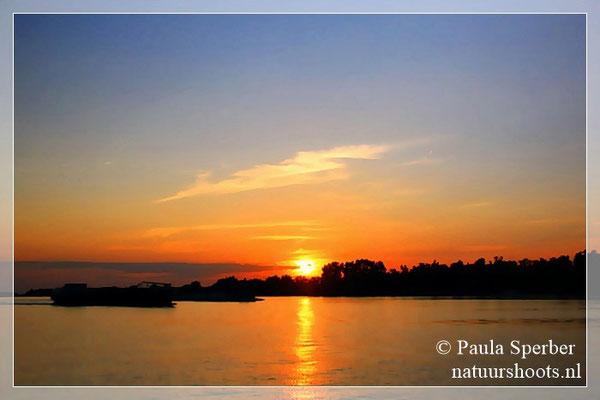 zonsopkomst over de Biesbosch