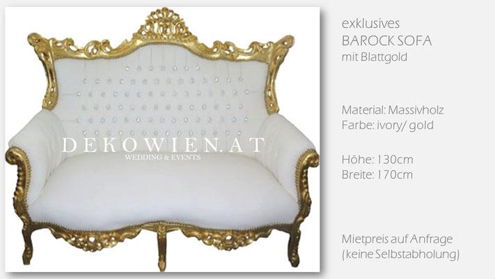 Barock Sofa Vermietung