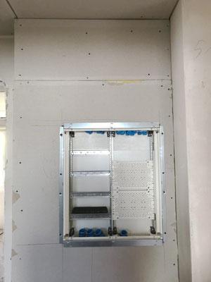 Elektrorohreinlagen zu Verteiler