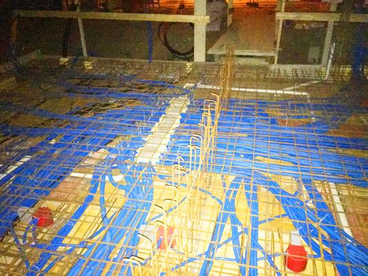 Elektrorohreinlagen Dach Rohbau