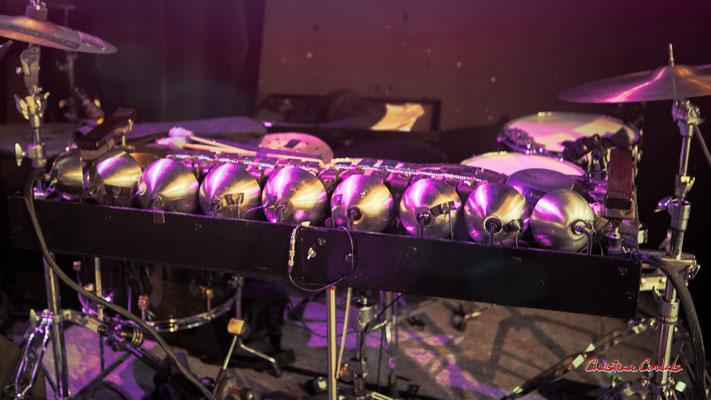 """Flamentophone : percussions uniques au monde de Benjamin Flament; Sylvain Rifflet """"Troubadours"""". Festival JAZZ360 2021, Cénac. Samedi 6 juin 2021. Photographie © Christian Coulais"""