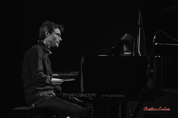 Xavier Duprat, piano Steinway B2 demi-queue; Christian Paboeuf Quartet, Festival JAZZ360 2021. Cénac, samedi 5 juin 2021. Photographie © Christian Coulais