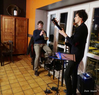 SoupéJazz360, Paolo Chatet (trompette) & Jean-Loup Siaut (guitare). Restaurant les Acacias, samedi 14 mars 2020