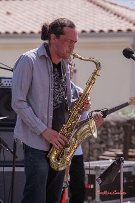 Vincent Le Fort, saxophone ténor; Bushmen. Festival JAZZ360 2021. Quinsac, dimanche 6 juin 2021. Photographie © Christian Coulais