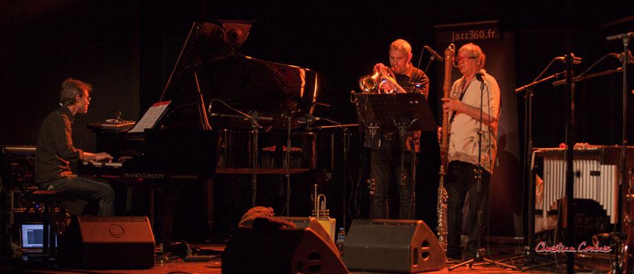 Xavier Duprat, Régis Lahontâa, Christian Paboeuf; Christian Paboeuf Quartet, Festival JAZZ360. Cénac, samedi 5 juin 2021. Photographie © Christian Coulais