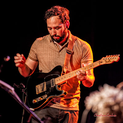 Høst : Dorian Dutech, guitare. Festival JAZZ360, vendredi 4 juin 2021, Cénac. Photographie © Christian Coulais