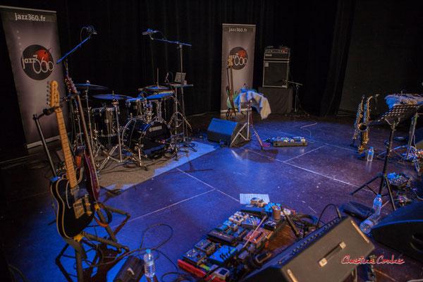 Scène de la salle culturelle, Høst invite Nicolas Gardel. Festival JAZZ360, Cénac. Vendredi 4 juin 2021. Photographie © Christian Coulais