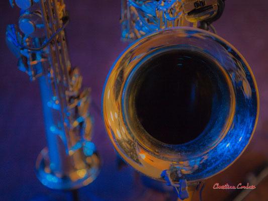 Saxophones soprano et ténor de Carla Gaudré. Høst invite Nicolas Gardel. Festival JAZZ360, Cénac. Vendredi 4 juin 2021. Photographie © Christian Coulais