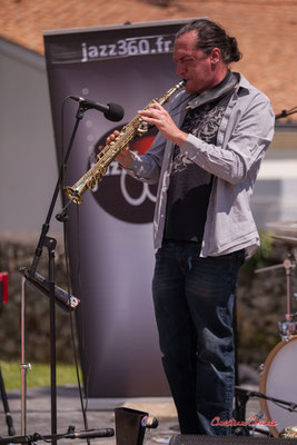 Vincent Le Fort, saxophone soprano; Bushmen. Festival JAZZ360 2021. Quinsac, dimanche 6 juin 2021. Photographie © Christian Coulais