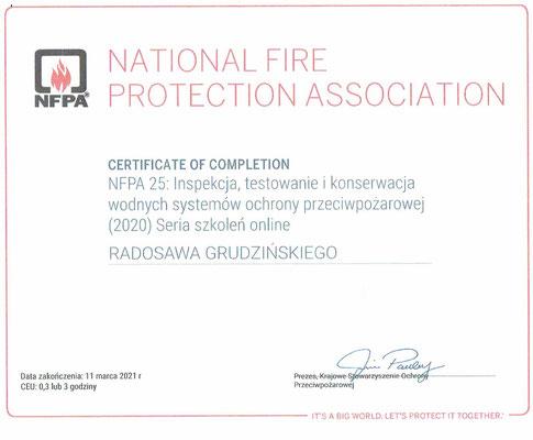 Przegląd instalacji tryskaczowych NFPA