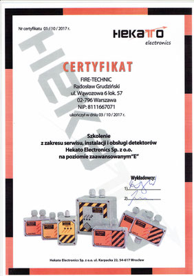 Serwis detekcji gazów HEKATO