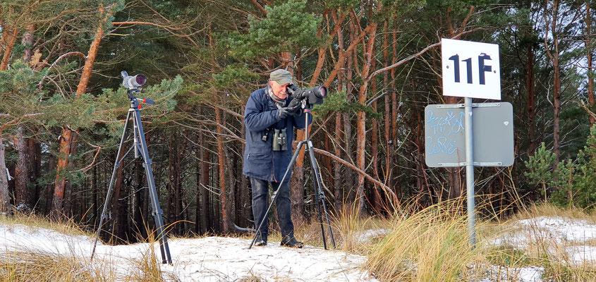 bei der Arbeit / Foto: NABU Insel Usedom, W. Becker