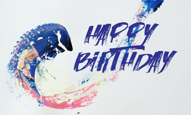 "Geburtstagskarte ""Birthday wave"""