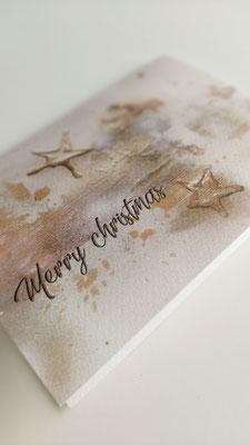 Weihnachtskarte auf Naturpapier inkl. Spende an die Stiftung Kinderhilfe Sternschnuppe